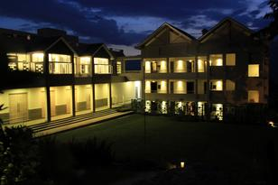 Night view of the facility block with banquet lawn
