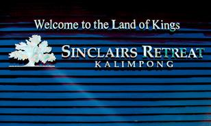 Signage at the resort's entrance defines the princely treatment to the guests